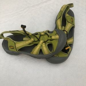 Women's Keen Sandals. Green. Size 7.5